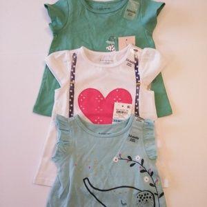 First Impression Baby's 3pc Set Knit Dresses-3-6 M